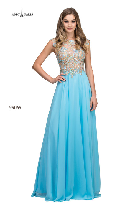 95065-Light Blue Prom dress by Abby Paris