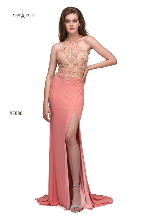95080-Coral Prom                                             dress by Abby Paris