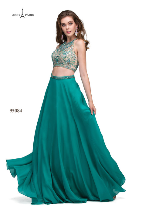 95084-Teal gown from the 2018 Abby Paris collection, as seen on dressfinder.ca