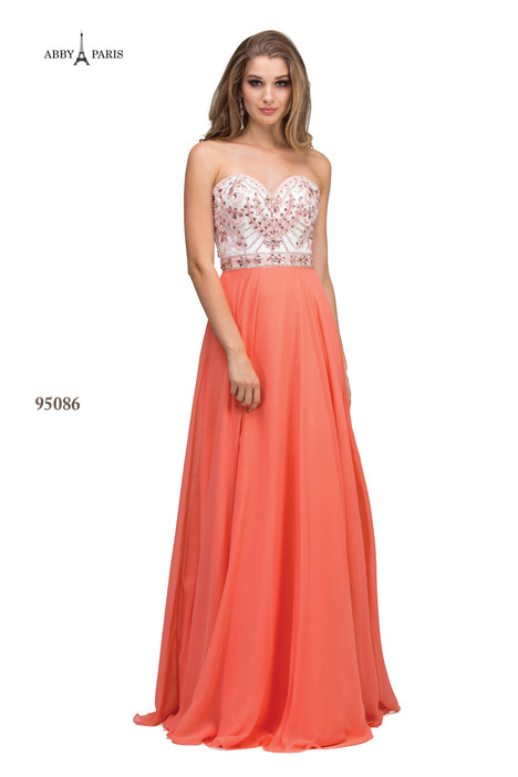 95086-Coral Prom                                             dress by Abby Paris