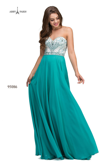 95086-Teal Prom                                             dress by Abby Paris