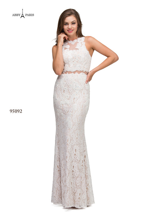 95092-Ivory Prom                                             dress by Abby Paris