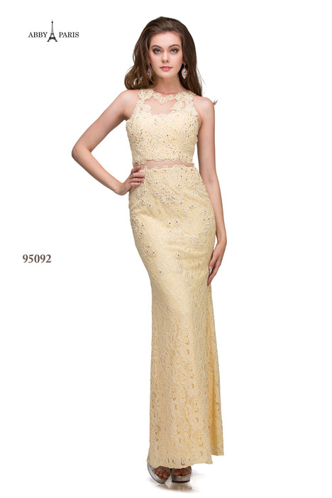 95092-Champagne Prom                                             dress by Abby Paris