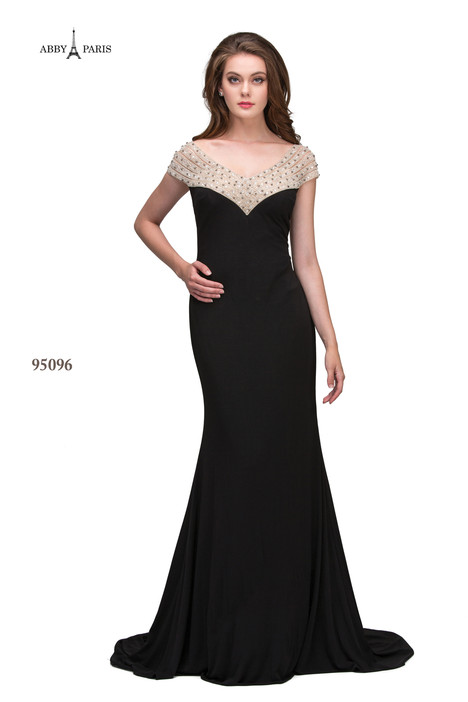 95096-Black Prom                                             dress by Abby Paris