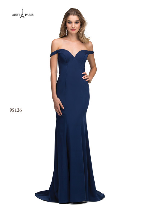 95126-Navy Prom                                             dress by Abby Paris