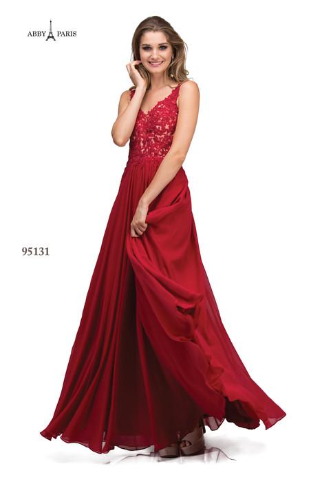 95131-Wine Prom dress by Abby Paris