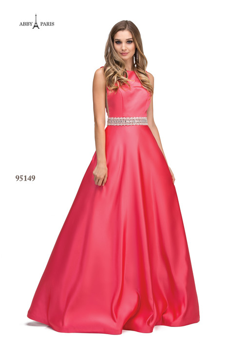 95149-Coral Prom                                             dress by Abby Paris