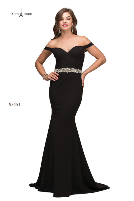 95151-Black Prom                                             dress by Abby Paris