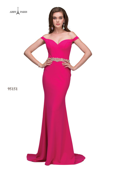 95151-Hot Pink Prom dress by Abby Paris
