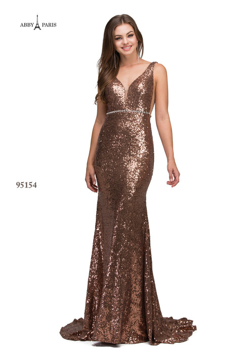 95154-Bronze Prom dress by Abby Paris
