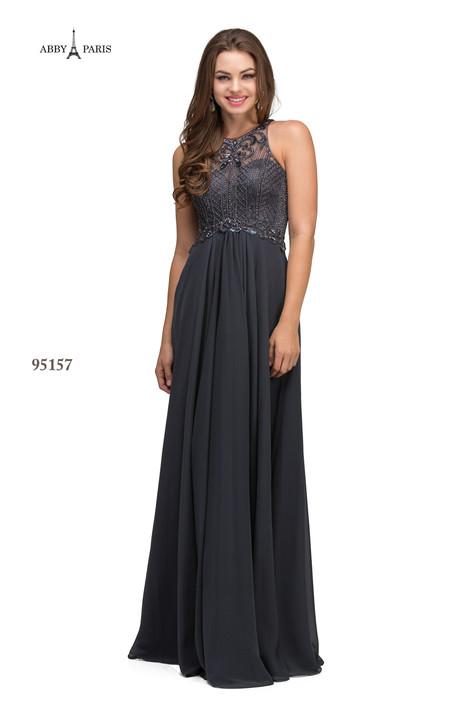 95157-Gunmetal Prom                                             dress by Abby Paris