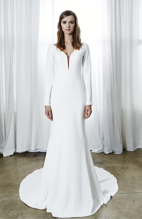 Jade gown from the 2019 Kelly Faetanini collection, as seen on dressfinder.ca