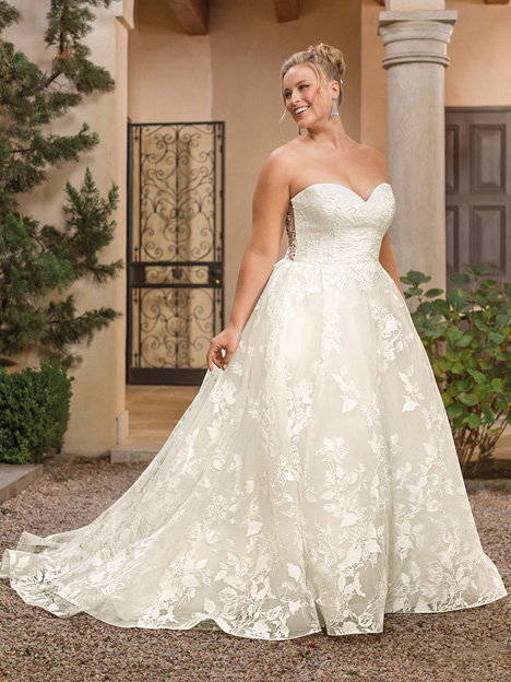 Madeline + Wedding                                          dress by Casablanca Bridal