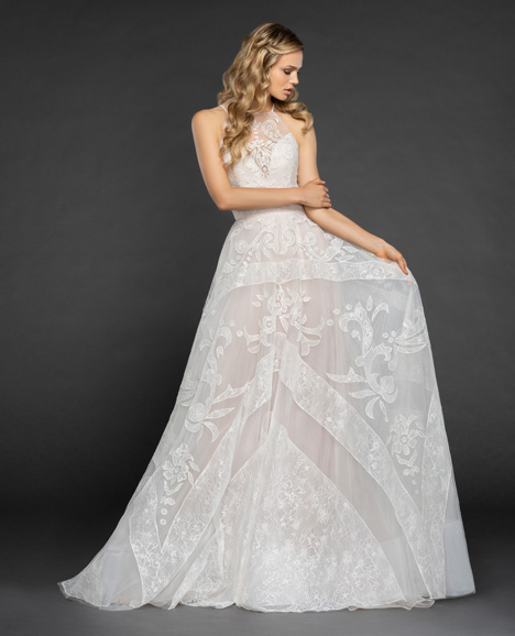 Maxwell Wedding                                          dress by Hayley Paige