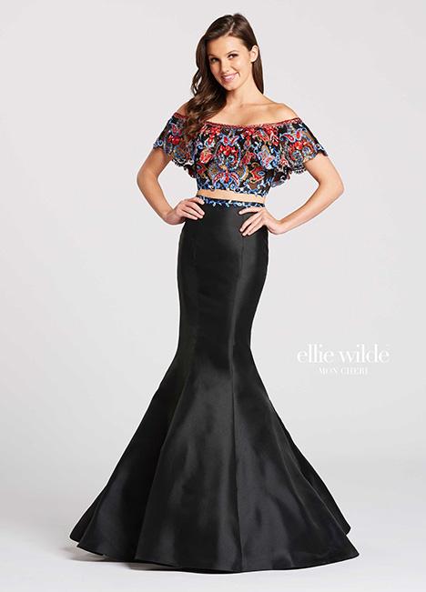 EW118025-Blk Prom                                             dress by Ellie Wilde
