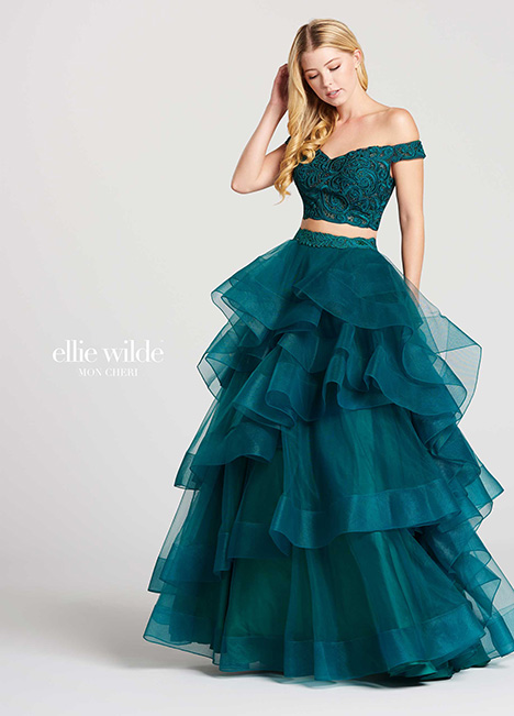 EW118040-Green Prom                                             dress by Ellie Wilde