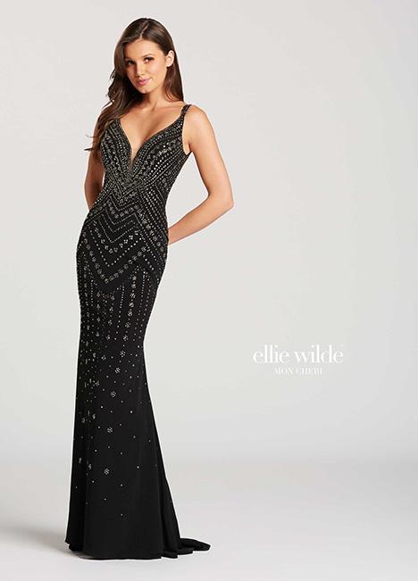 EW118049-Blk Prom                                             dress by Ellie Wilde