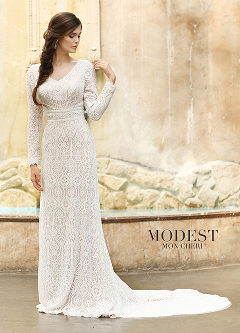 Style TR11831 gown from the 2018 Modest by Mon Cheri collection, as seen on dressfinder.ca