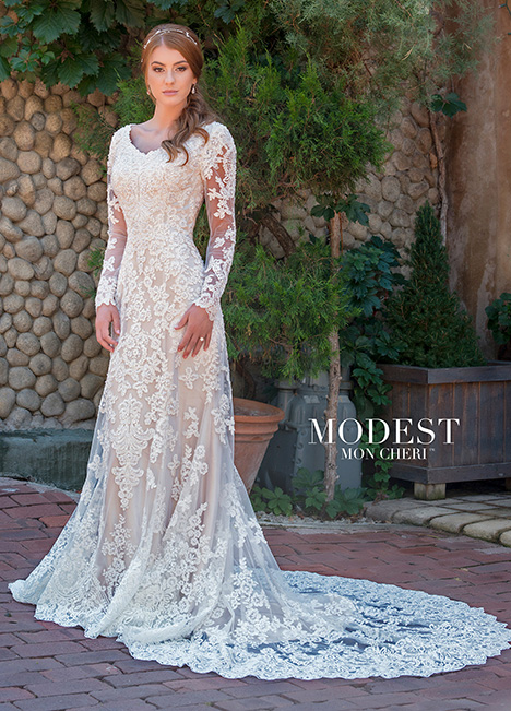 Style TR11838 gown from the 2018 Modest by Mon Cheri collection, as seen on dressfinder.ca