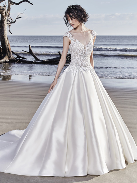 Huntington Wedding                                          dress by Sottero and Midgley