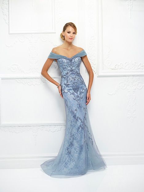 118D08 (Blue) Mother of the Bride                              dress by Montage : Ivonne D Collection