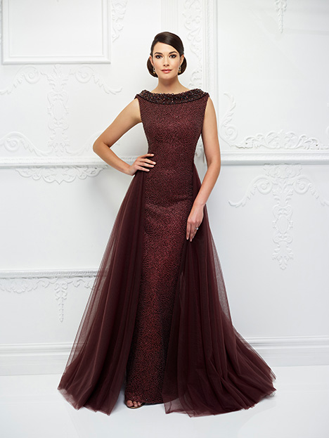 118D10 (Wine) Mother of the Bride                              dress by Montage : Ivonne D Collection