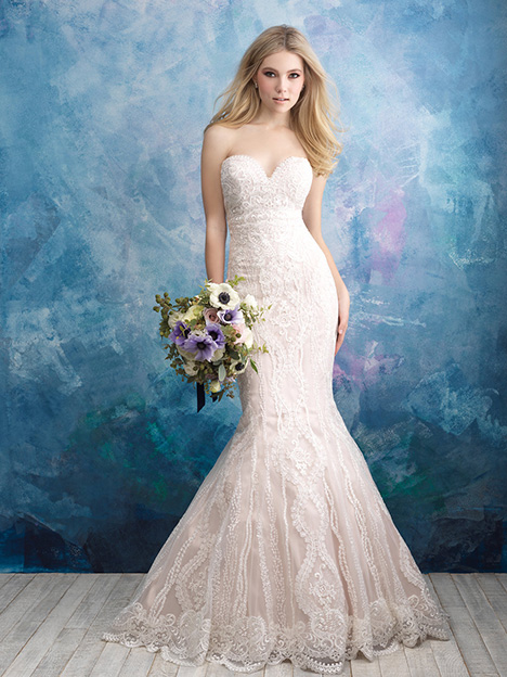 9574 gown from the 2018 Allure Bridals collection, as seen on dressfinder.ca