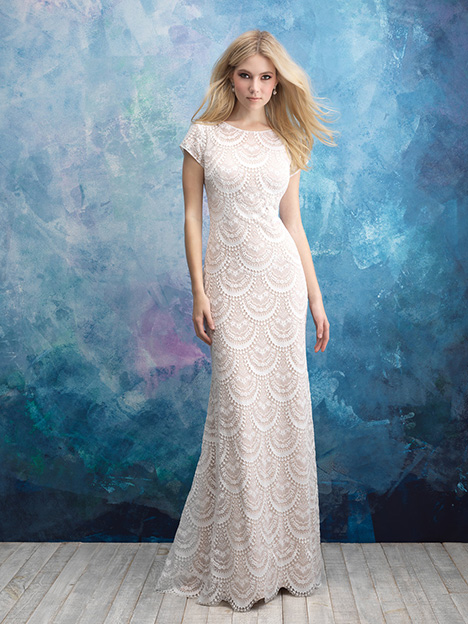 M600 Wedding                                          dress by Allure Modest