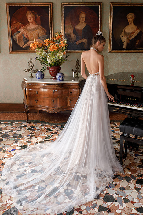 1404 (back) Wedding                                          dress by Julie Vino Haute Couture