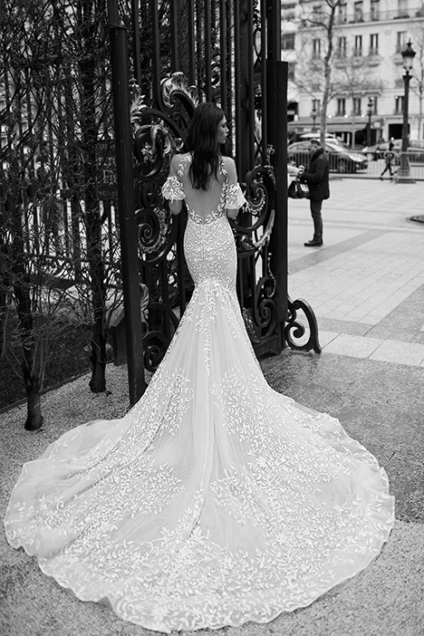 1602 (back) Wedding                                          dress by Julie Vino Haute Couture