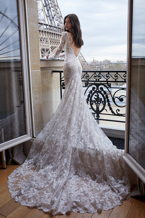 1609 (back) Wedding                                          dress by Julie Vino Haute Couture