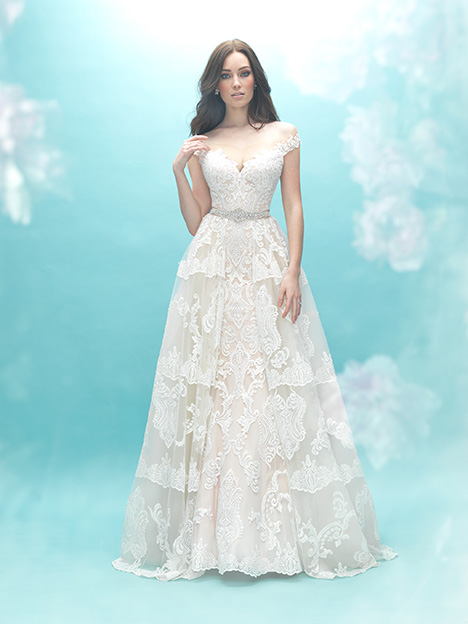 9474T (Train Only) Wedding                                          dress by Allure Bridals