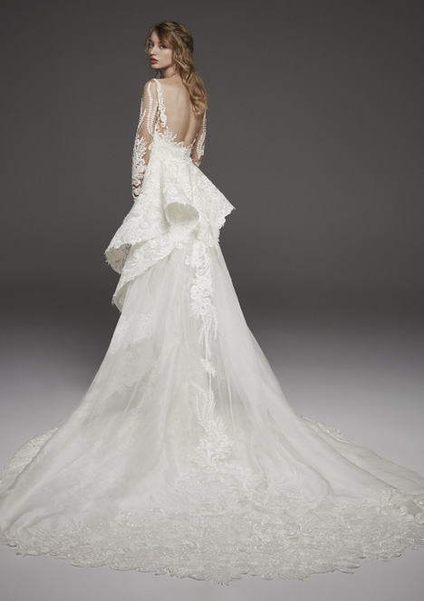 Hevea (back) Wedding                                          dress by Pronovias Atelier
