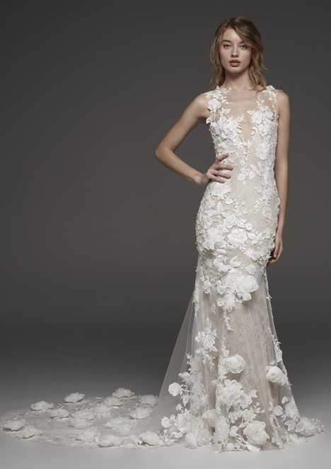 Hydra Wedding                                          dress by Pronovias Atelier