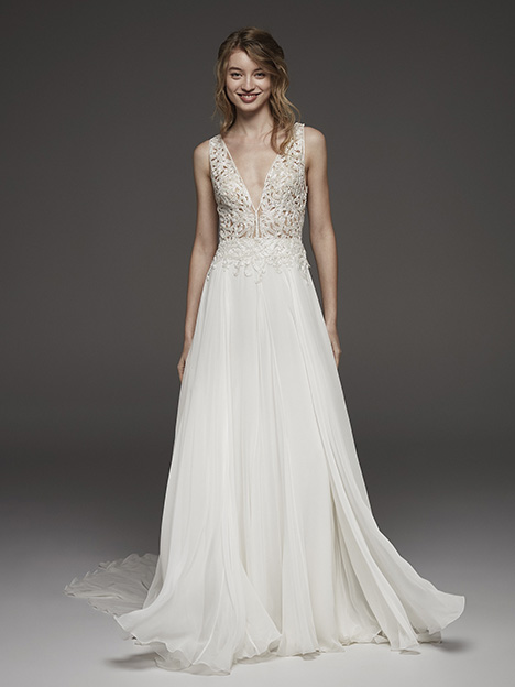 Huguet Wedding                                          dress by Pronovias Atelier
