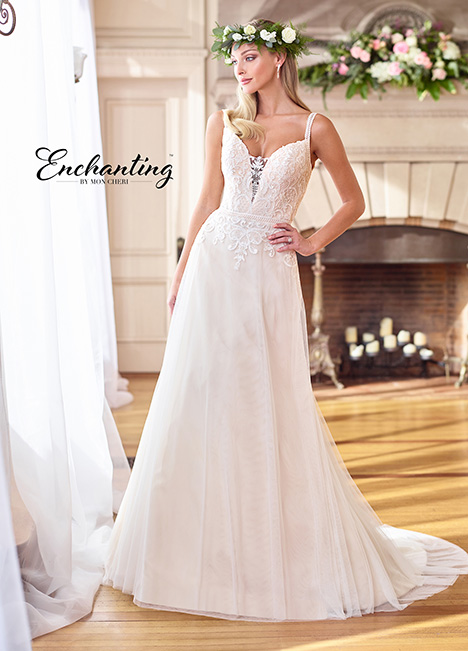 Style 218171 gown from the 2018 Enchanting by Mon Cheri collection, as seen on dressfinder.ca