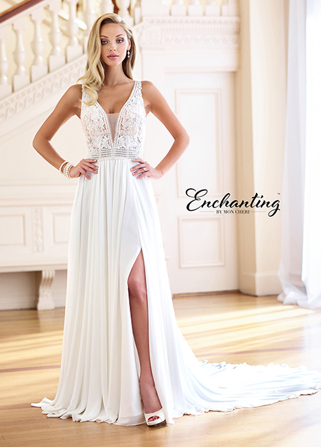 Style 218176 gown from the 2018 Enchanting by Mon Cheri collection, as seen on dressfinder.ca