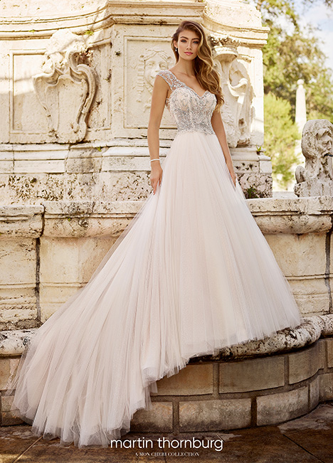 218215 Wedding                                          dress by Martin Thornburg for Mon Cheri