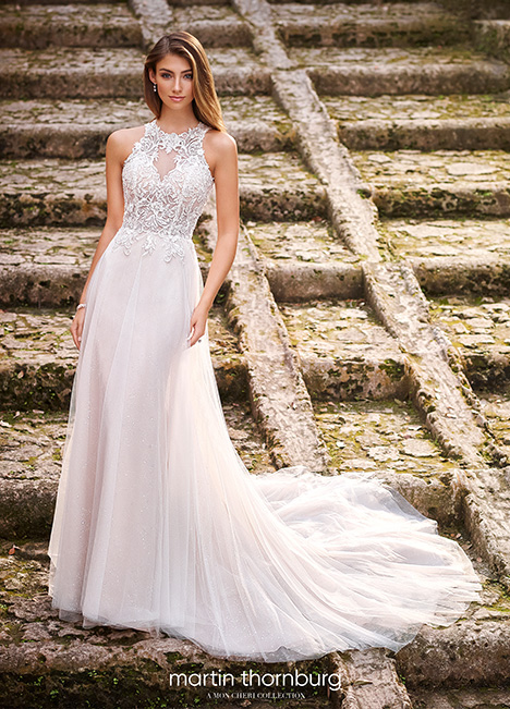 218220 gown from the 2018 Martin Thornburg for Mon Cheri collection, as seen on dressfinder.ca