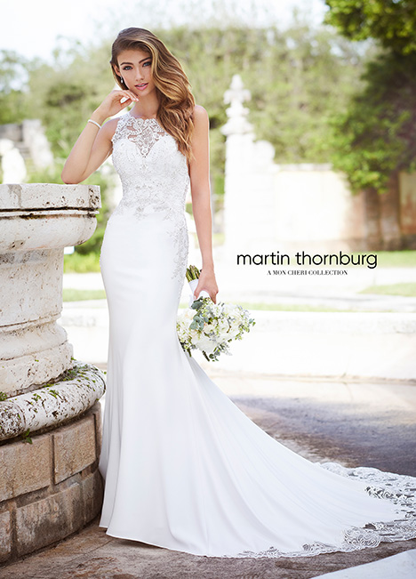 218231 Wedding                                          dress by Martin Thornburg for Mon Cheri