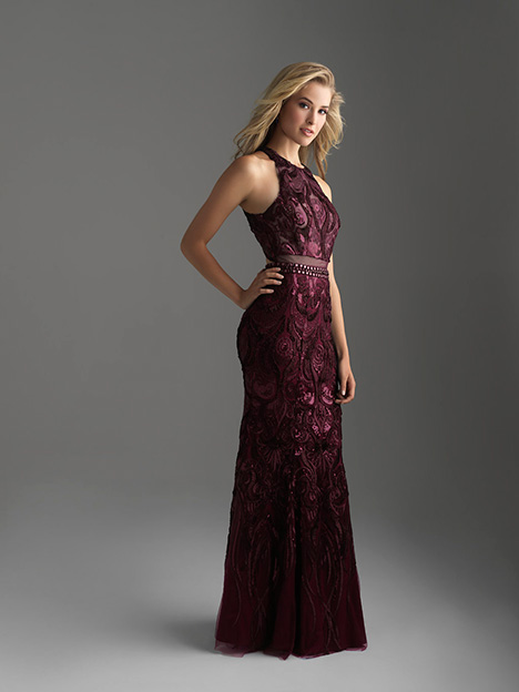 18-604 Burgandy gown from the 2018 Madison James Special Occasion collection, as seen on dressfinder.ca