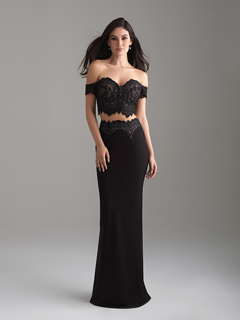 18-649 Black gown from the 2018 Madison James Special Occasion collection, as seen on dressfinder.ca
