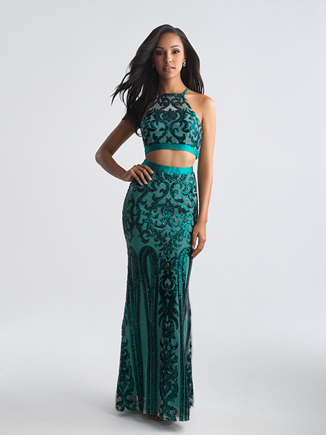 18-697 Green gown from the 2018 Madison James Special Occasion collection, as seen on dressfinder.ca