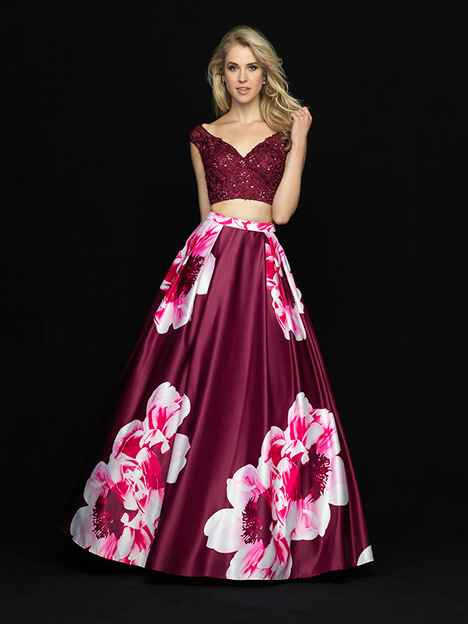 18-700 Burgandy Prom                                             dress by Madison James Special Occasion