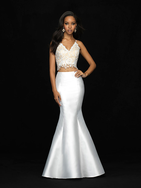 18-703 White Prom                                             dress by Madison James Special Occasion