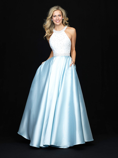 18-708 Light Blue Prom dress by Madison James Special Occasion