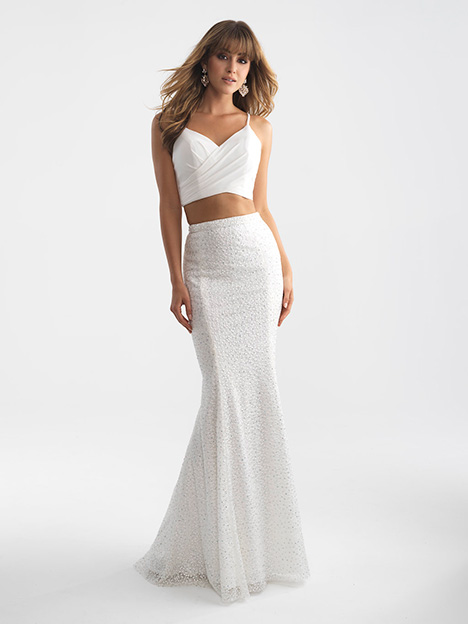 18-711 White Prom                                             dress by Madison James Special Occasion