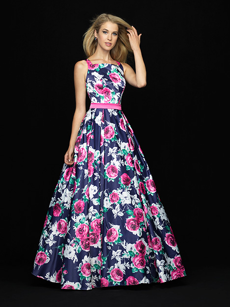 18-738 Print Prom                                             dress by Madison James Special Occasion