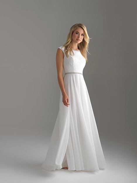 18-802M White gown from the 2018 Madison James Special Occasion collection, as seen on dressfinder.ca