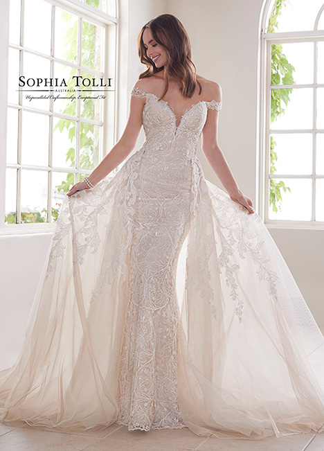 Y21810A (+ overskirt) Wedding                                          dress by Sophia Tolli